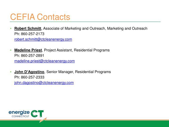 CEFIA Contacts