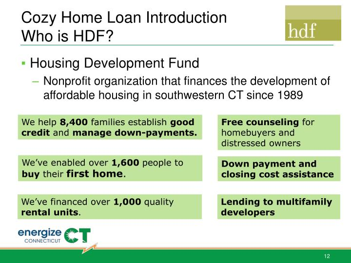 Cozy Home Loan Introduction