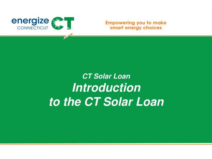 CT Solar Loan