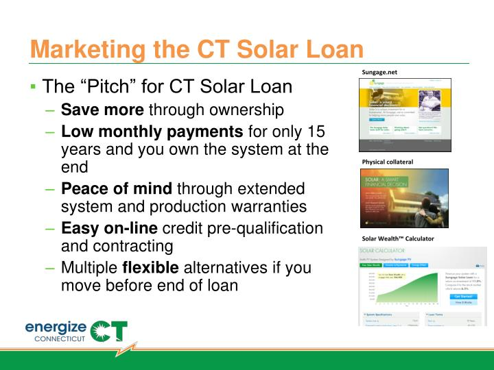 Marketing the CT Solar Loan