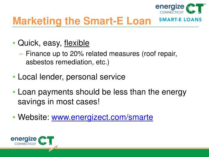 Marketing the Smart-E Loan