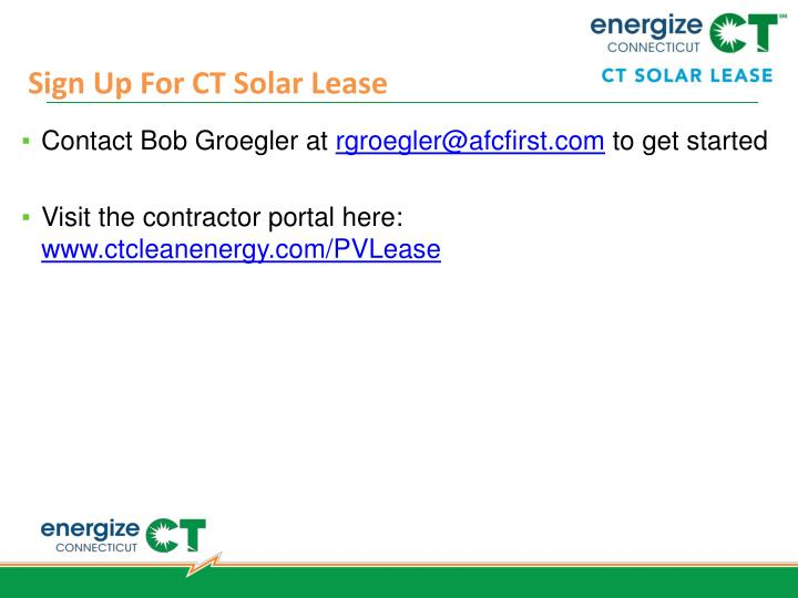 Sign Up For CT Solar Lease