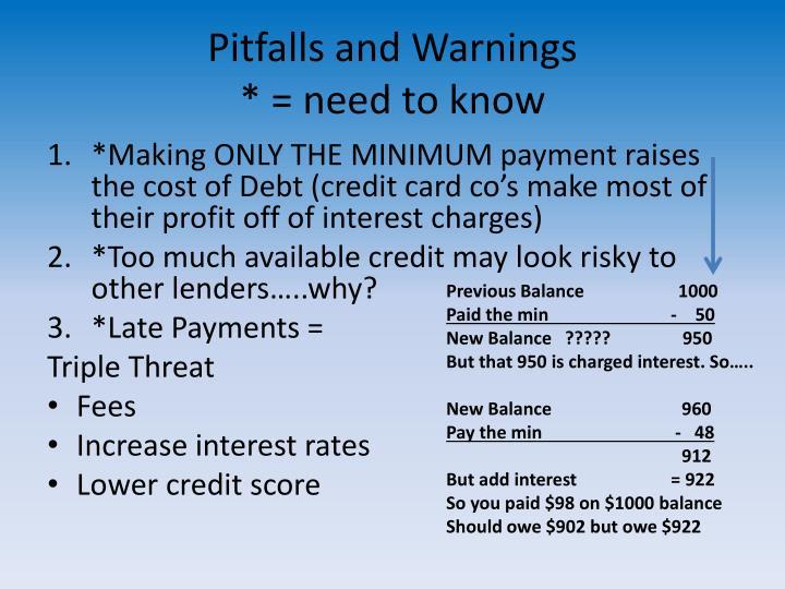 Pitfalls and Warnings