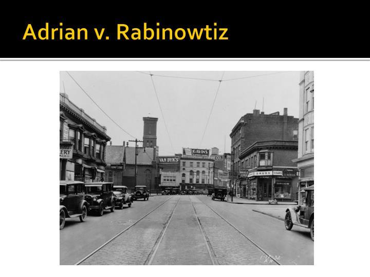 Adrian v. Rabinowtiz