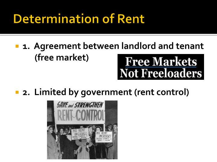 Determination of Rent
