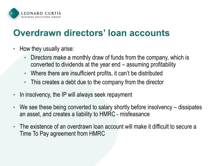 Overdrawn directors' loan accounts