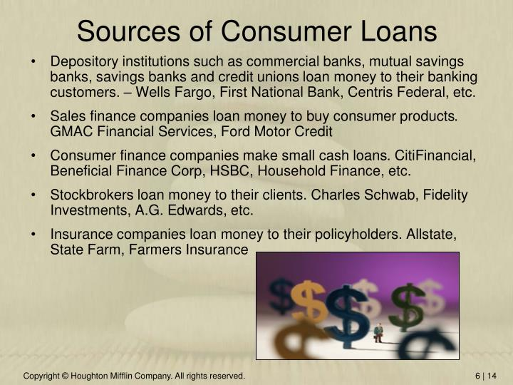 Sources of Consumer Loans