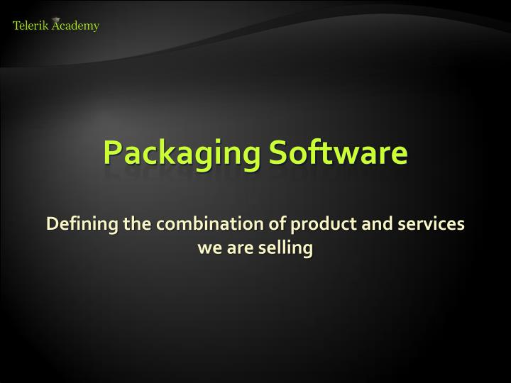 Packaging Software