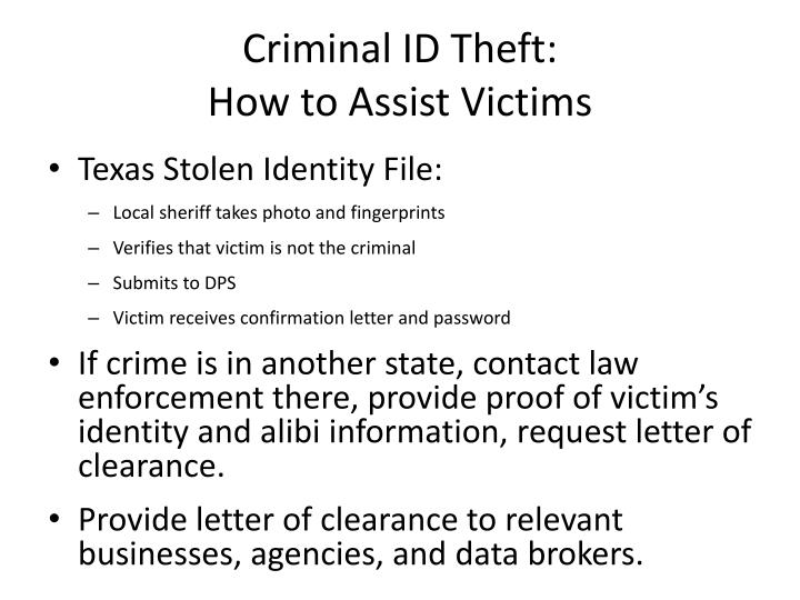 Criminal ID Theft: