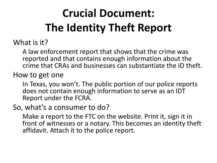 Crucial Document: