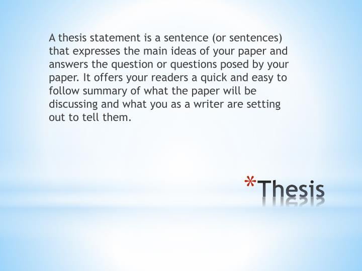 good thesis statements for abortion paper
