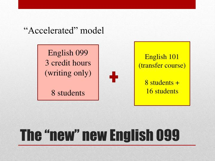 """""""Accelerated"""" model"""