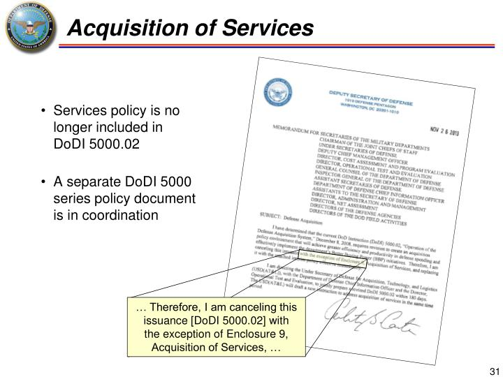 Acquisition of Services