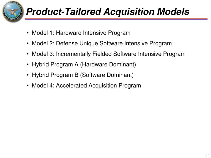 Product-Tailored Acquisition Models