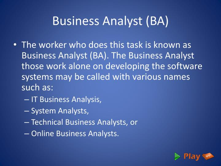 Business analyst ba