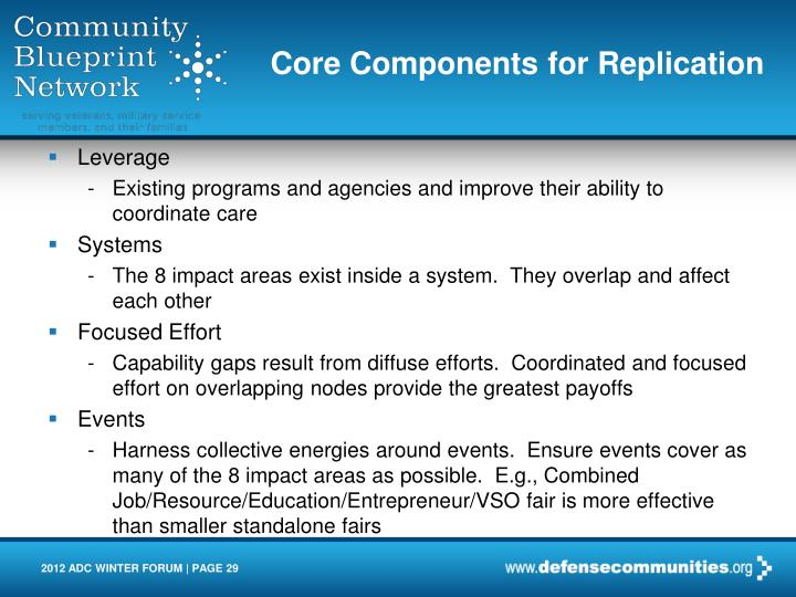 Core Components for Replication