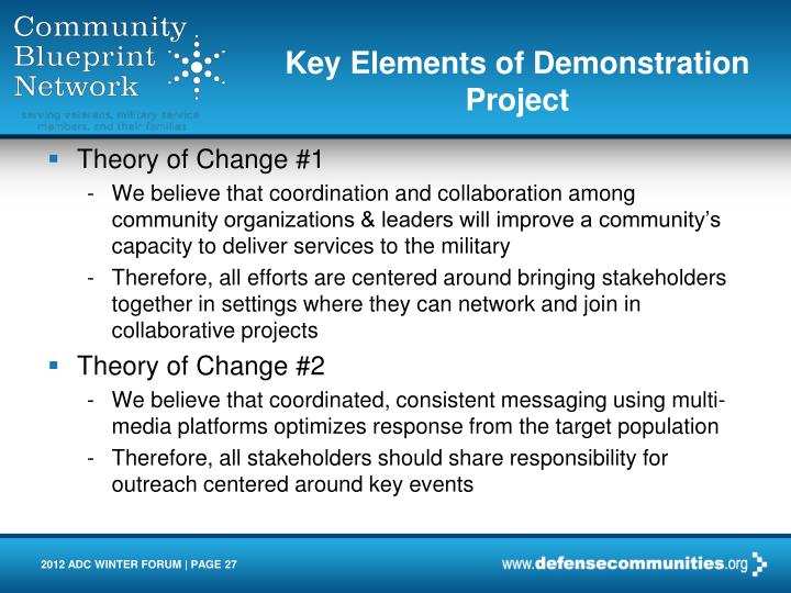 Key Elements of Demonstration Project