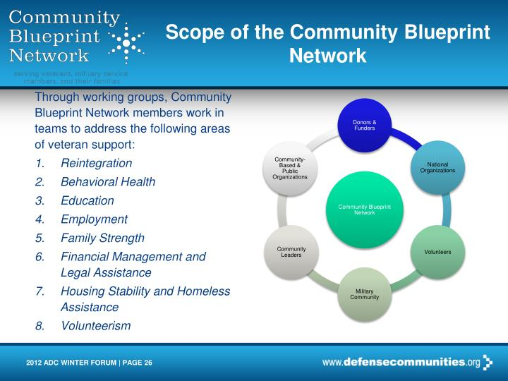 Scope of the Community Blueprint Network