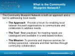 what is the community blueprint network