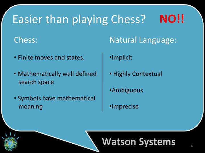 Easier than playing Chess?