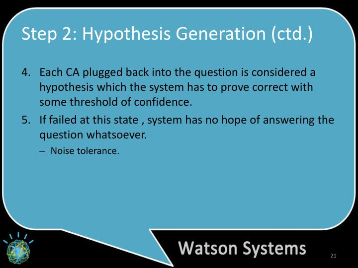 Step 2: Hypothesis Generation (