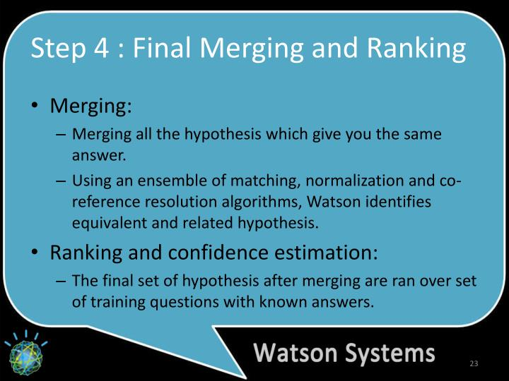 Step 4 : Final Merging and Ranking