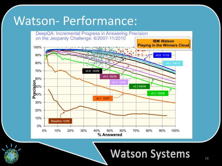 Watson- Performance: