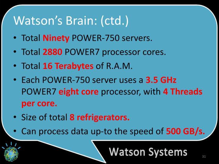 Watson's Brain: (
