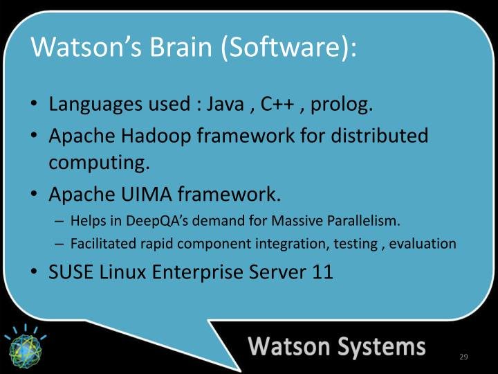 Watson's Brain (Software):