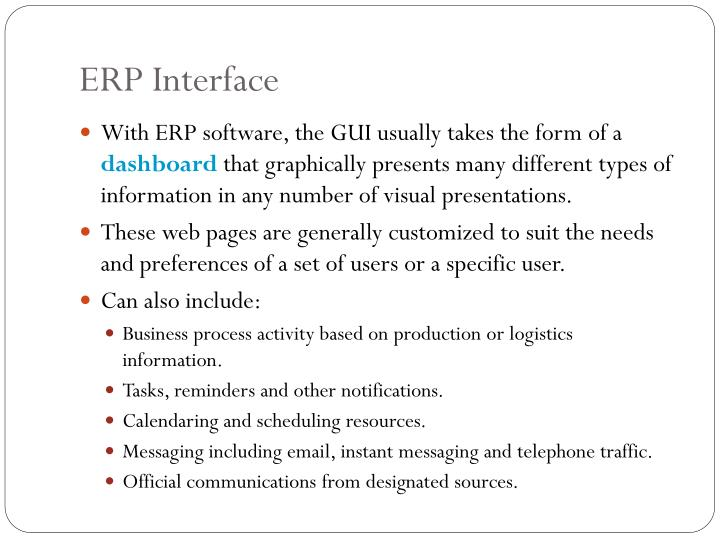 ERP Interface