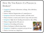 how do you know if a process is broken