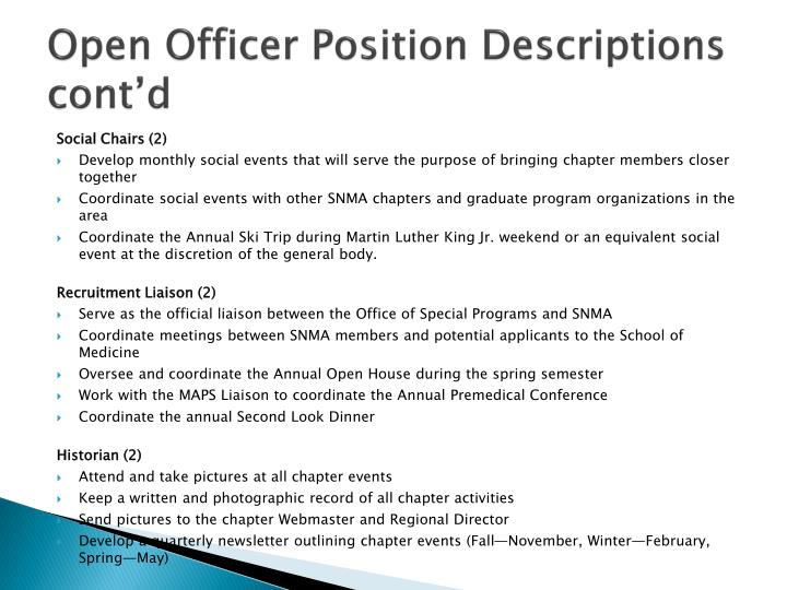 Open Officer Position