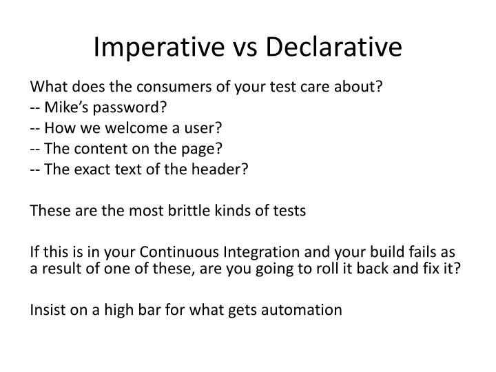 Imperative