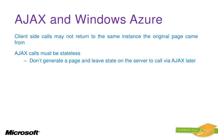 AJAX and Windows Azure