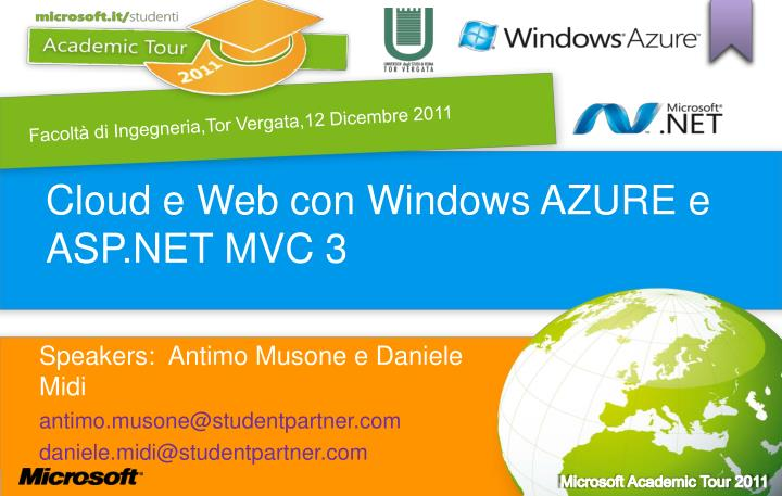 Cloud e web con windows azure e asp net mvc 3