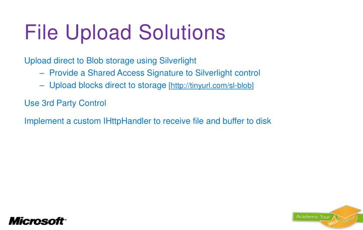 File Upload Solutions