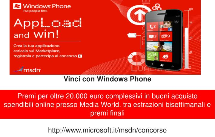 Vinci con Windows Phone