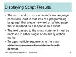 displaying script results