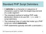 standard php script delimiters