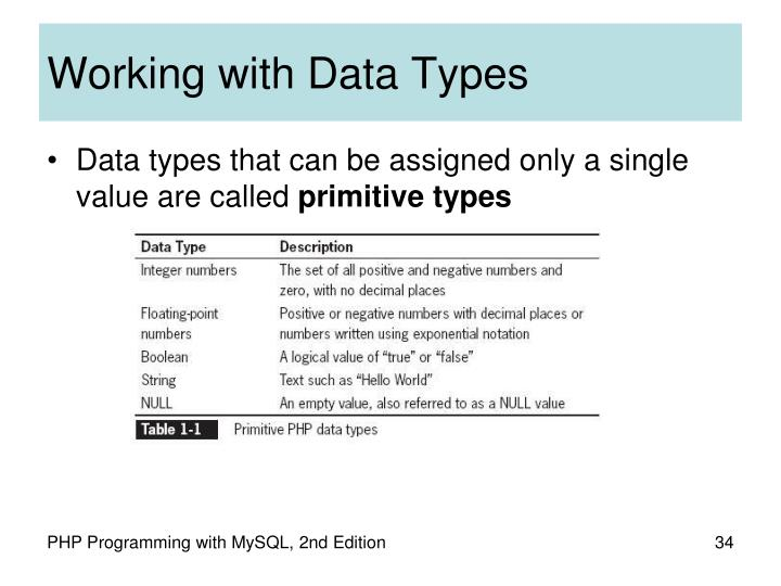 Working with Data Types