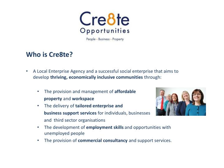 Who is Cre8te?