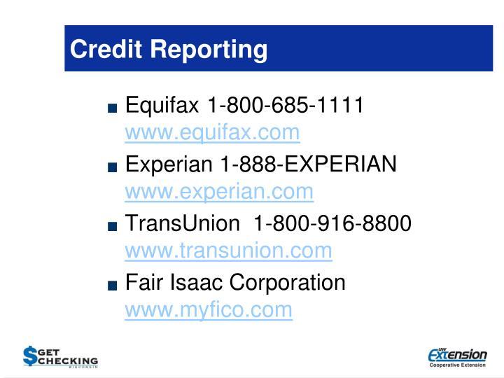 Credit Reporting