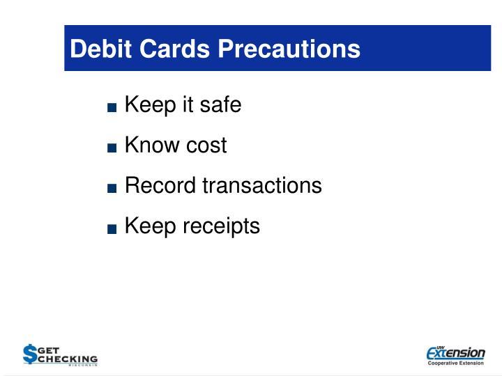 Debit Cards Precautions