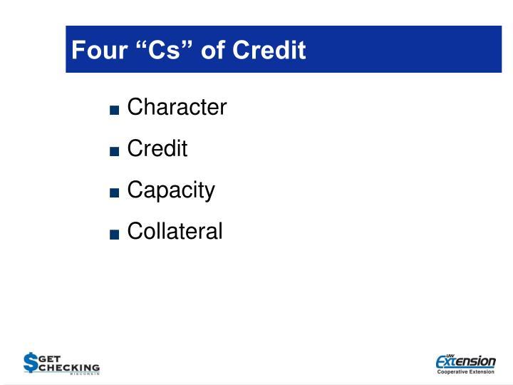 "Four ""Cs"" of Credit"