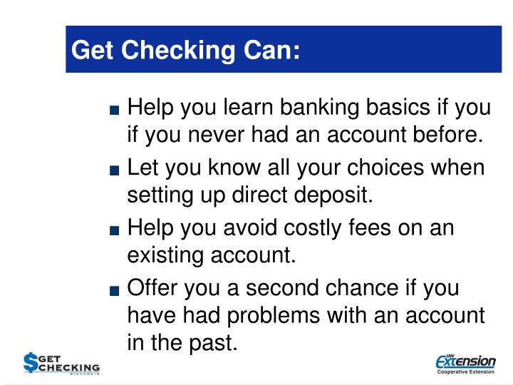 Get Checking Can: