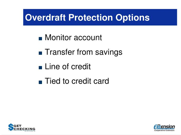 Overdraft Protection Options