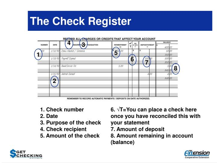 The Check Register