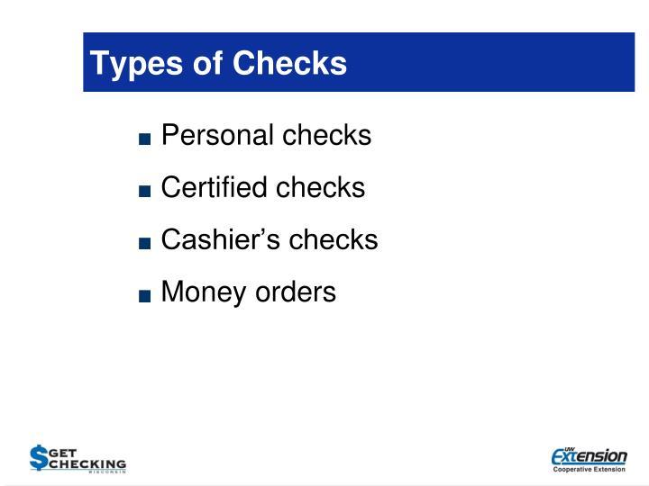 Types of Checks