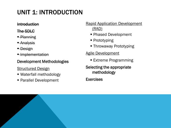 Unit 1: Introduction