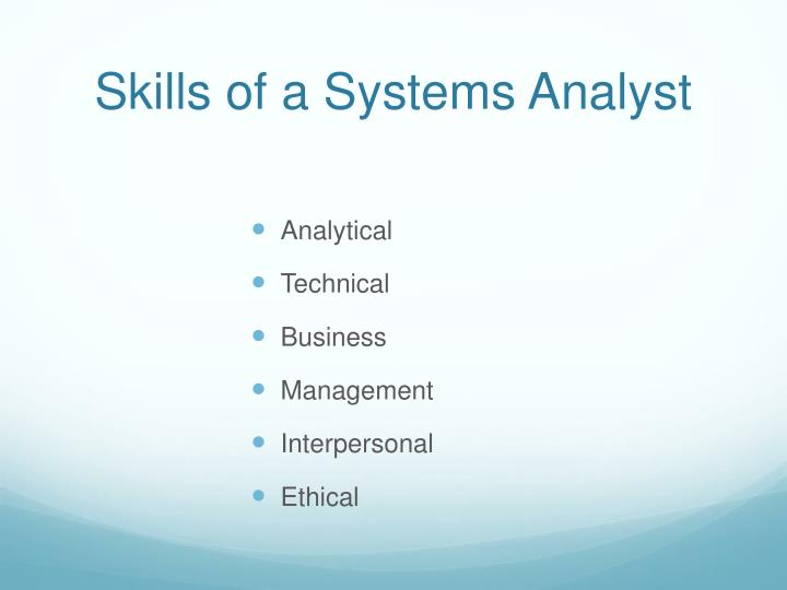 Skills of a Systems Analyst